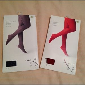 Bundled NIB A New Day Opaque Tights size M/L